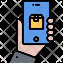 Hand Phone Box Icon