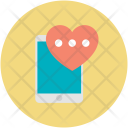 Mobile Device Love Icon