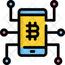 Mobile Bitcoin Cryptocurrency Icon