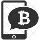 Mobile Phone Bitcoin Icon