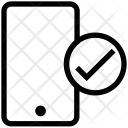 Cell Phone Check Icon