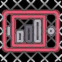 Mobile Graph Phone Icon