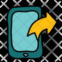 Mobile Phone Arrow Icon