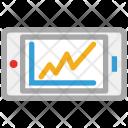 Mobile Bar Chart Icon