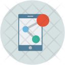 Mobile Share Data Icon