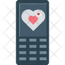 Mobile Heart Sign Valentines Day Icon