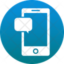 Mobile Chat Bubble Mobility Icon