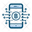 Mobile Crypto Cryptocurrency Icon