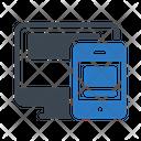 Mobile Screen Filesharing Icon