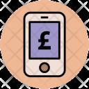 Mobile Screen Pound Icon