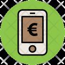 Mobile Screen Euro Icon