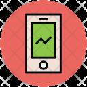 Mobile Graph Internet Icon