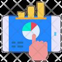 Mobile Graph Screen Icon