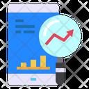 Mobile Data Graph Icon