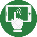 Mobile Phone Finger Icon