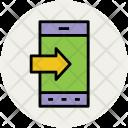 Mobile Outgoing Call Icon