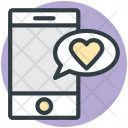 Mobile Heart Sign Icon