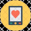 Mobile Screen Heart Icon