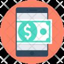 Mobile Banking Dollar Icon