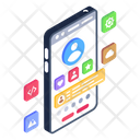 Online Profile Mobile Profile Online Account Icon