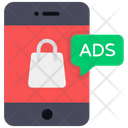 Mobile Ads Smartphone Ads Shopping Ads Icon