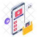 Online Streaming Mobile Ads Mobile Advertisement Icon