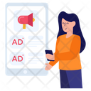 Online Marketing Digital Marketing Mobile Ads Icon