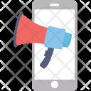 Mobile Advert Megaphone Icon