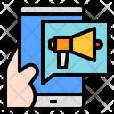 Mobile Marketing Technology Icon
