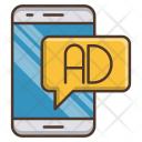 Mobile Advertising Digital Icon