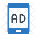 Ads Mobile Digital Icon