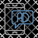 Mobile Advertising Digital Icon