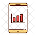 Mobile Analysis Mobile Bar Chart Icon
