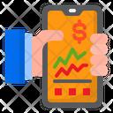 Mobile Phone Graph Report Icon