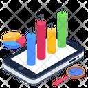 Online Analytics Mobile Analysis Business App Icon