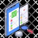 Mobile Analysis Trend Analysis Data Analysis Icon