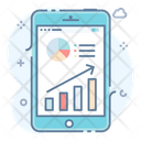 Production Research Mobile Analytics Marketing Research Icon