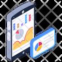 Online Data Data Analytics Mobile Analytics Icon