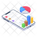 Phone Analytics Mobile Analytics Online Analytics Icon