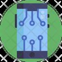 Bitcoin Blockchain Mobile App Icon