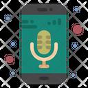 Mobile App Mobile Mic Music Recorder Icon
