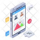 Mobile Content Mobile Software Development App Coding Icon
