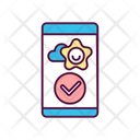 Mobile App Satisfaction Icon
