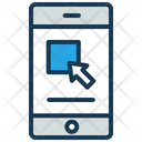 Mobile Application Online Shopping Phone Icon