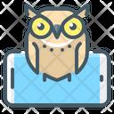 Mobile Application Mobile Education Owl Icon