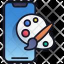Mobile Art Design Mobile Icon