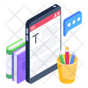 Article Format Mobile Blog Online Blog Icon
