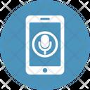 Mobile Audio App Microphone Icon