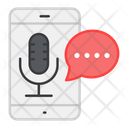 Mobile Audio Message Mobile Voice Message Mobile Audio Messenger Icon