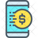 Mobile Banking Cash Icon